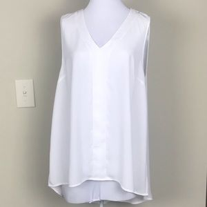 Vince Camuto Sleeveless Blouse High Low Hem Sz L